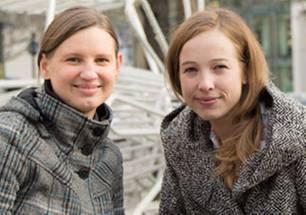 """Sicherheit: Die Macherinnen des """"Heimwegtelefons"""": Frances Berger (links) und Anabell Schuchhardt"""