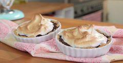 Schoko-Tartelettes mit Baiser
