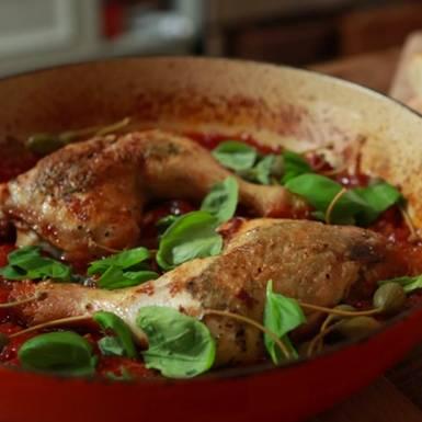 Rezepte: Italienische Hähnchenschenkel