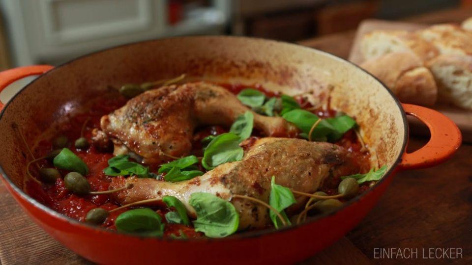 Italienische Hähnchenschenkel