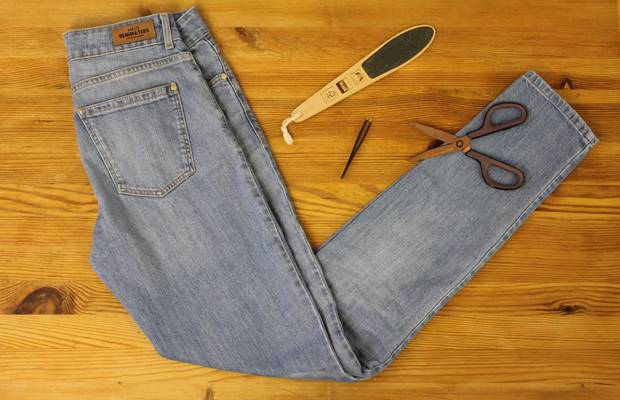 DIY-Anleitung: Jeans mit ausgefranstem Saum selber machen