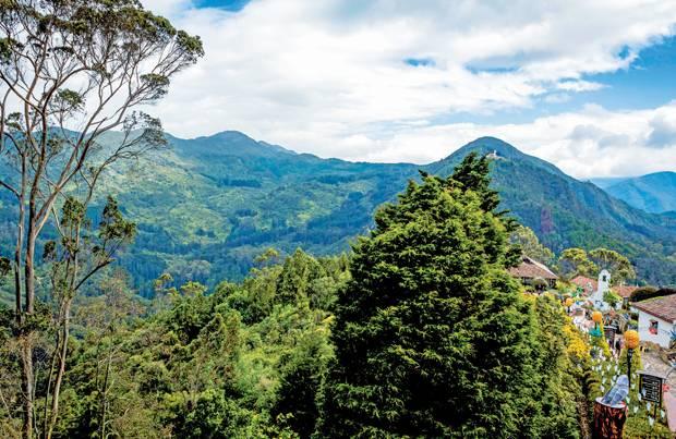 Hoch über Bogotá ist die Luft zwar dünn, aber die Aussicht fantastisch