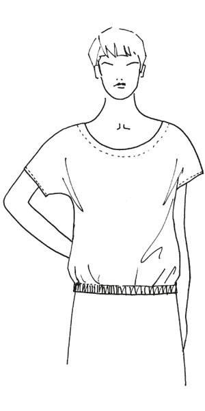 Schnittmuster: Bluse mit Gummizug nähen - eine Anleitung | BRIGITTE.de