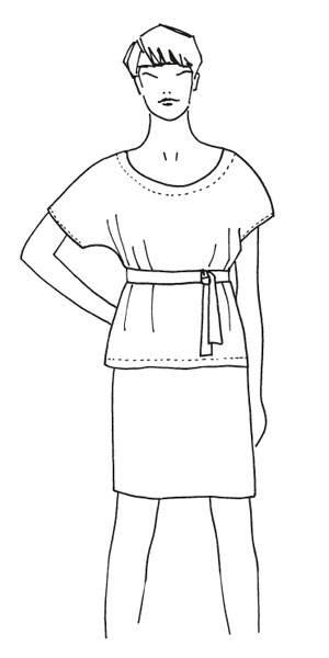 Schnittmuster: Bluse mit Gürtel nähen - eine Anleitung | BRIGITTE.de