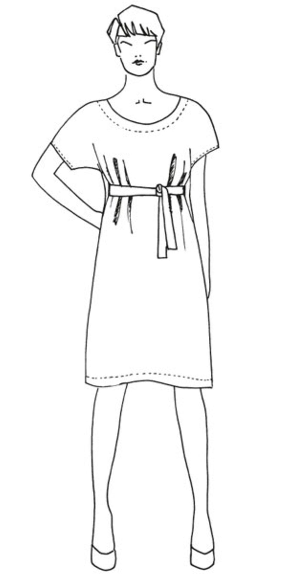 Kleid mit Gürtel nähen - eine Anleitung