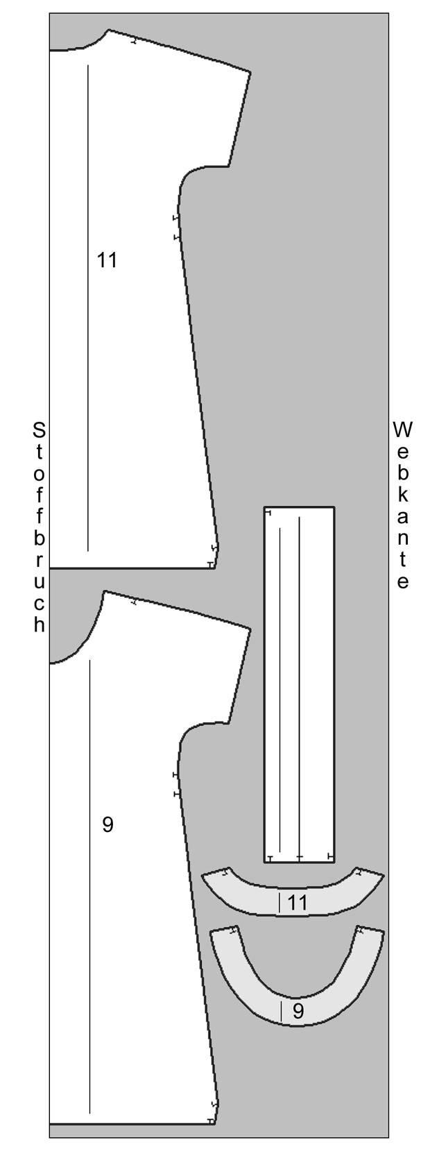 Schnittmuster: Kleid mit Gürtel nähen - eine Anleitung