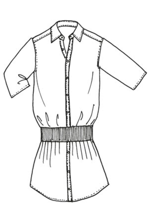 Hemdblusenkleid nähen - eine Anleitung