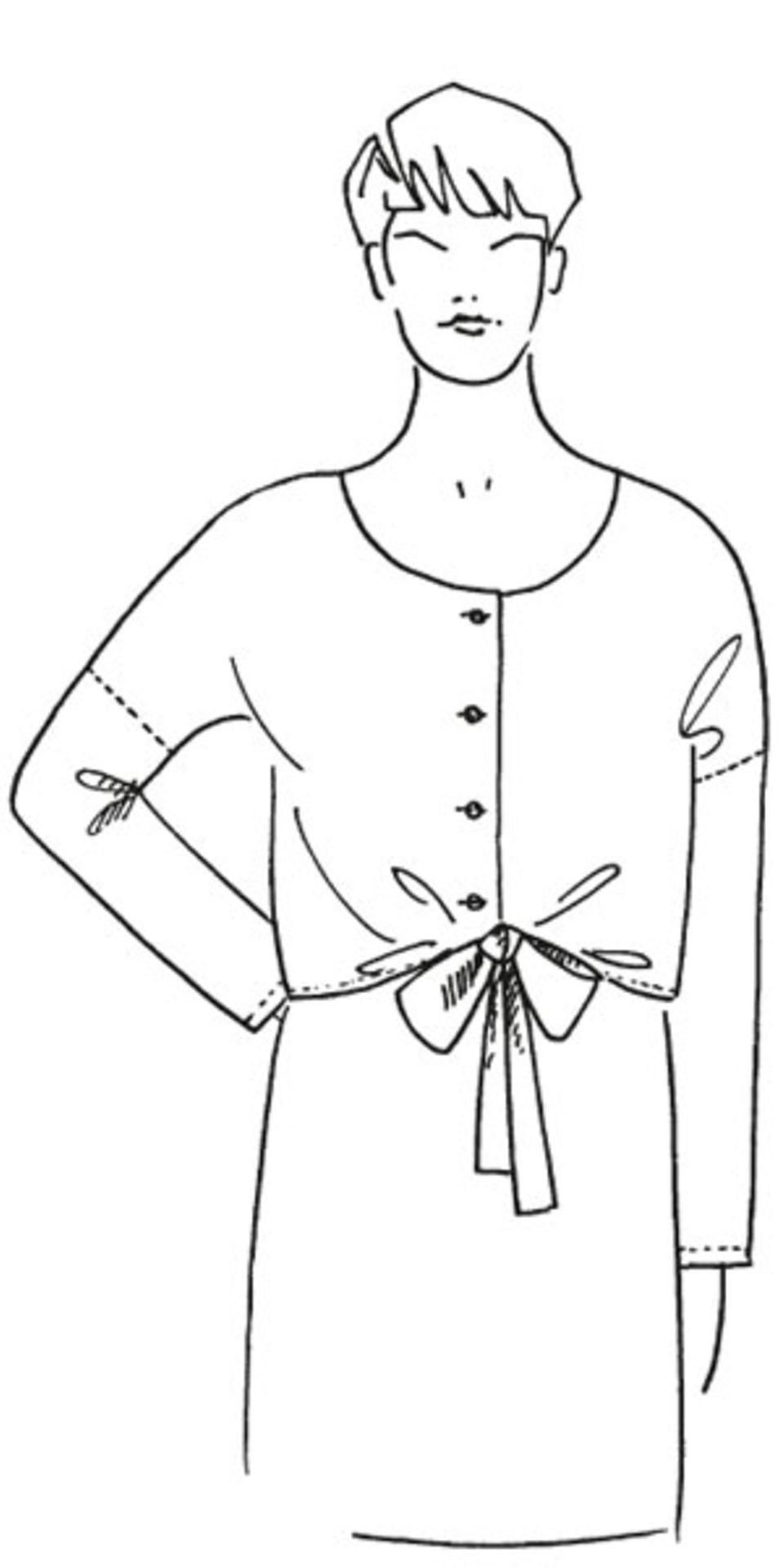 Bluse zum Knoten nähen - eine Anleitung
