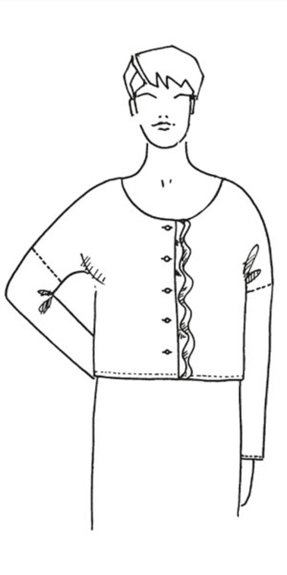 Bluse mit Volant nähen - eine Anleitung