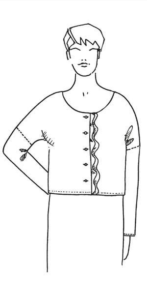 Schnittmuster: Bluse mit Volant nähen - eine Anleitung