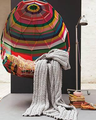 Decke stricken: 10 einfache Anleitungen