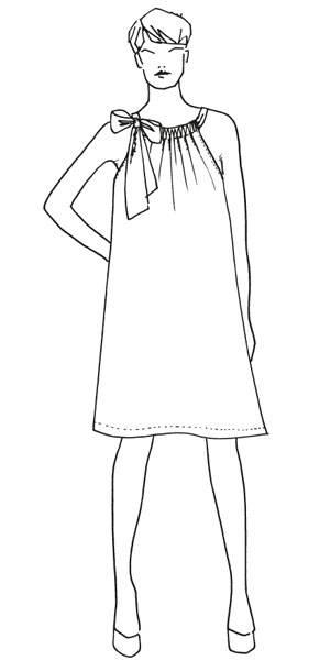 Schnittmuster: Ärmelloses Kleid nähen - eine Anleitung | BRIGITTE.de