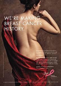 """Die berühmte Anzeige der """"Breast Cancer Foundation""""."""