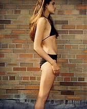 Crystal Renn als Teenager - damals wog sie nur 49 Kilo bei einer Größe von 1,75 m
