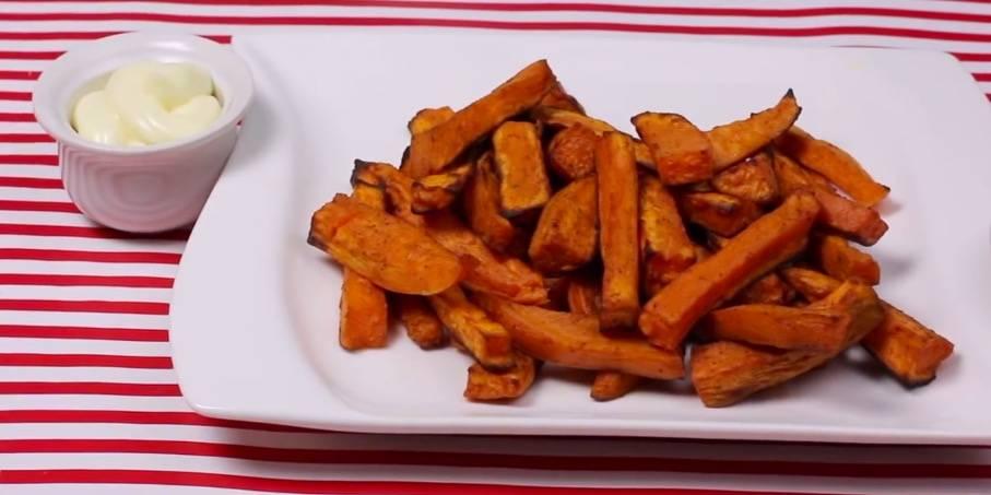 Rezept: Süßkartoffel-Pommes