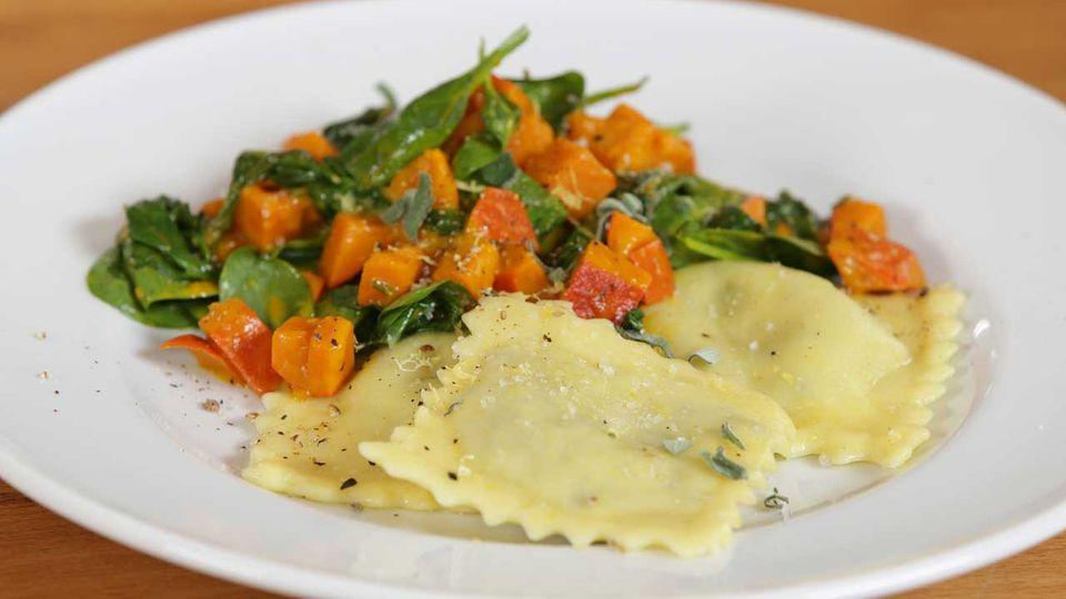 Vegane Ravioli mit Herbstgemüse - eine Video-Kochschule
