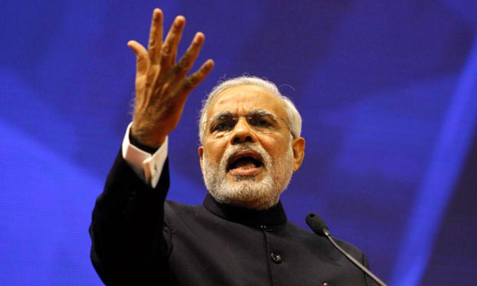 Der neue Premierminister Indiens und radikale Nationalist Narendra Modi kann die Massen für sich begeistern.