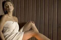 Pflege in der Sauna