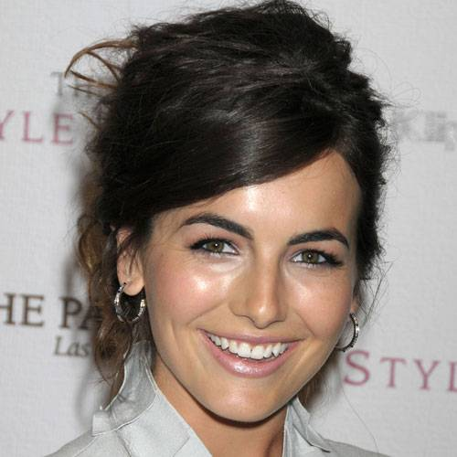 Messy Updo: Camille Belle