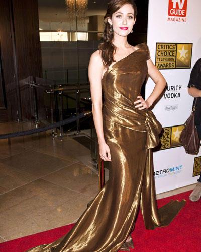 Stars in Gold-Kleidern: Emmy Rossum