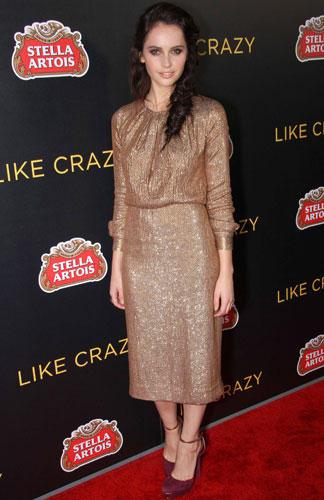 Stars in Gold-Kleidern: Felicity Jones