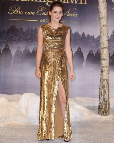 Stars in Gold-Kleidern: Kristen Stewart