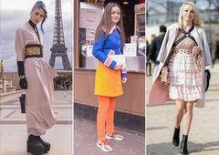 Auf der Paris Fashion Week zählt nicht nur das, was auf den Schauen gezeigt wird. Auch die Fashionistas auf der Straße geben alles, um von Streetstyle-Fotografen vor und nach den Shows geknipst zu werden. Das hat wenig mit Zufall zu tun. Viel mehr wird sich aufgebrezelt, was das Zeug hält, um aus der Masse als Mode-Mensch herauszustechen. Oft kommen dabei inspirierende Looks zustande. Dass das aber nicht immer gut gehen muss, zeigen wir euch hier in unserer Galerie der sechs schrägsten Looks aus der Mode-Metropole.