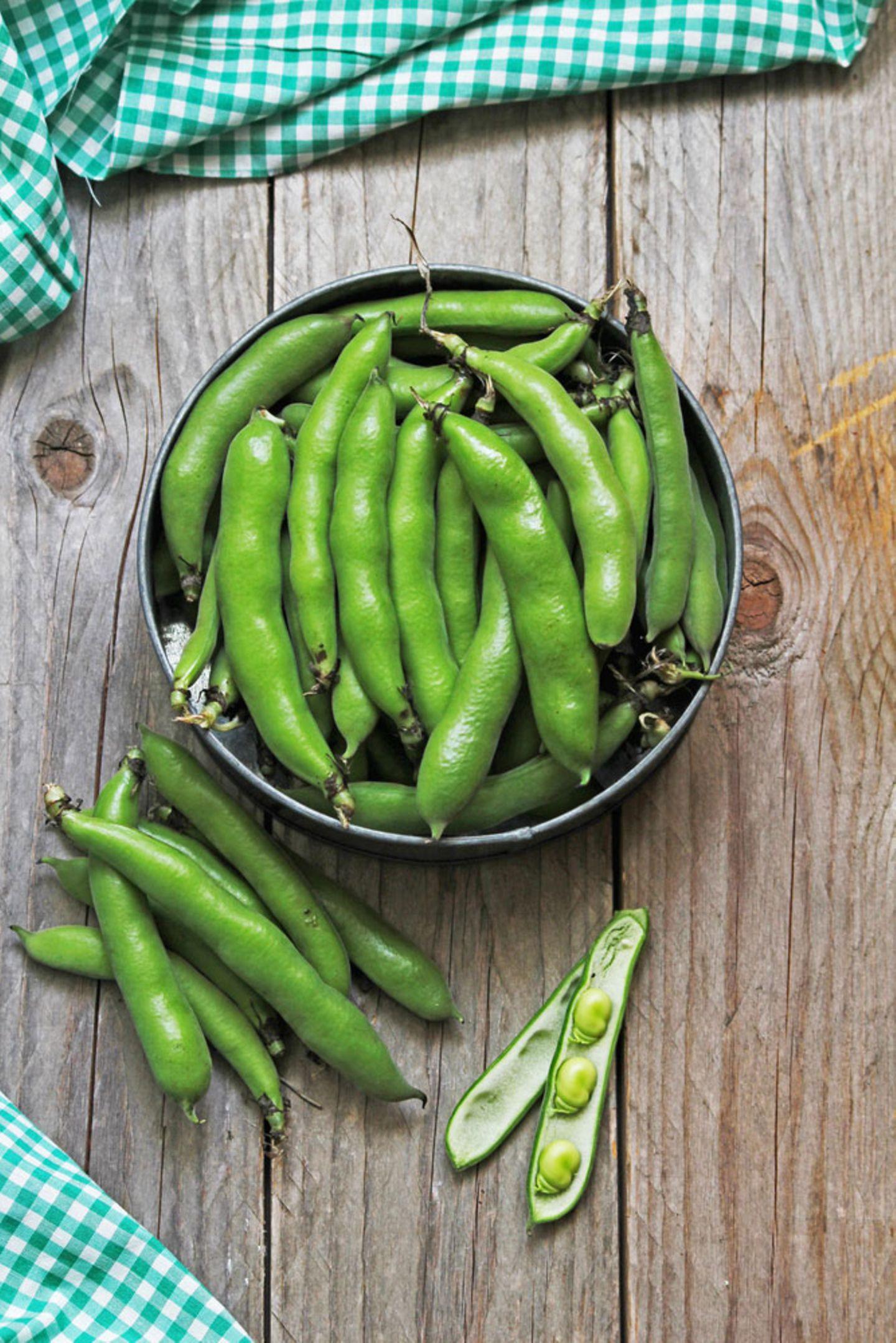 Mediterrane Diät: Grüne Bohnen in einer Schüssel
