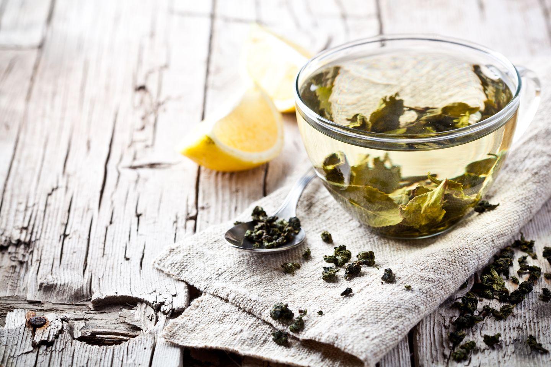 2. Pfunde schmelzen mit grünem Tee