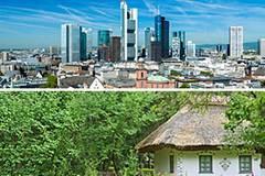 Stadt oder Land - wo wollen Sie wohnen?
