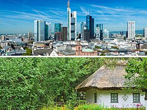 Stadt oder Land: Wo lebe ich glücklicher?