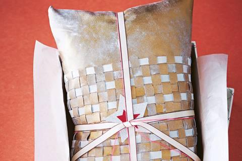 Kissen aus Ziegenleder selber machen