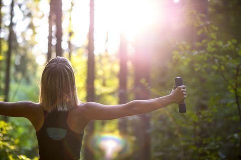 Oberarmtraining für feste Arme