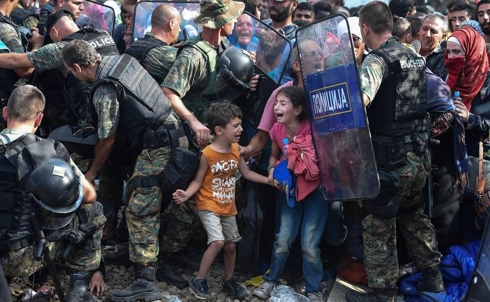 1. Preis: Schiere Verzweiflung - Grenze Griechenland-Mazedonien