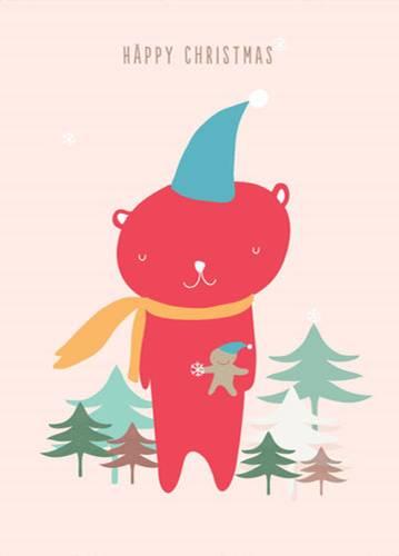 """Weihnachtskarte """"Bären"""""""