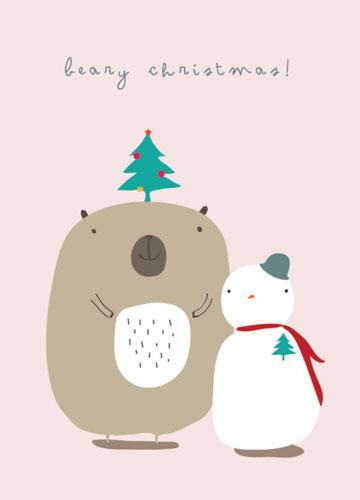 "Weihnachtskarte ""Beary Christmas!"""