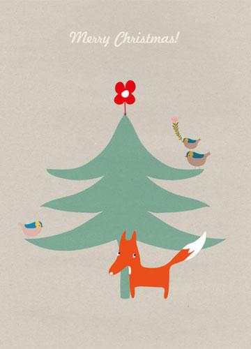 """Weihnachtskarte """"Fuchs"""""""