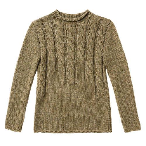Diesen brauen Pullover mit Zopfmuster zu stricken, ist etwas aufwendiger. Aber der Aufwand wird mit einem tollen Muster belohnt. Zur Anleitung: Braunen Pullover mit Zopfmuster stricken.