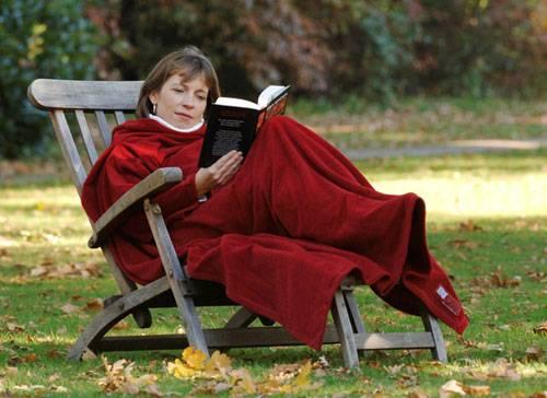 Flauschige Lesedecke