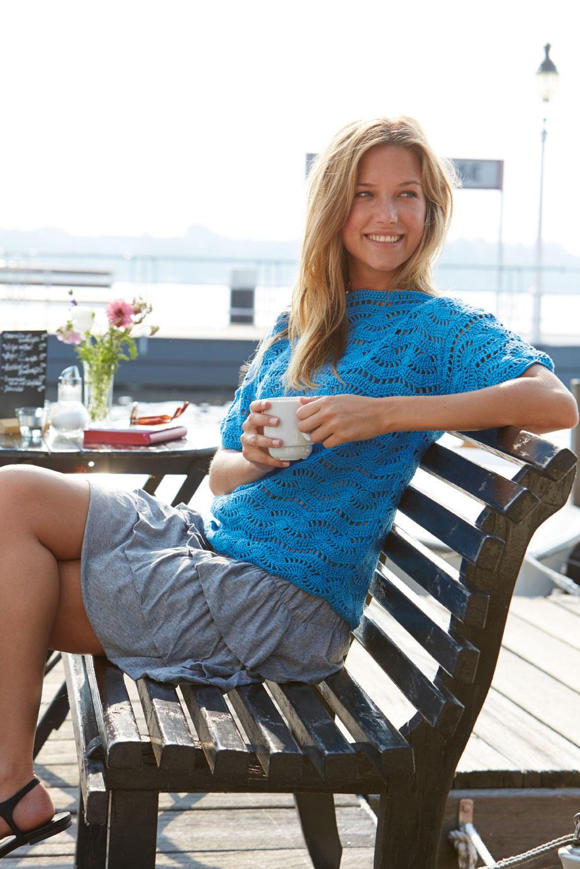 Häkelmuster: Sommermode häkeln und stricken - leicht und luftig ...