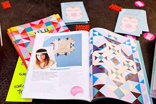 """Streetstyle: """"Wir wollen alte Basteltechniken in einen modernen Kontext einbinden"""", erklären Katja und Katrin die Idee hinter ihrem Magazin. So haben sie zum Beispiel Patchwork-Sticker zum Downloaden entwickelt."""