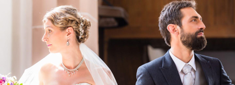Für diese Brautpaare begann die Scheidung während der Hochzeit