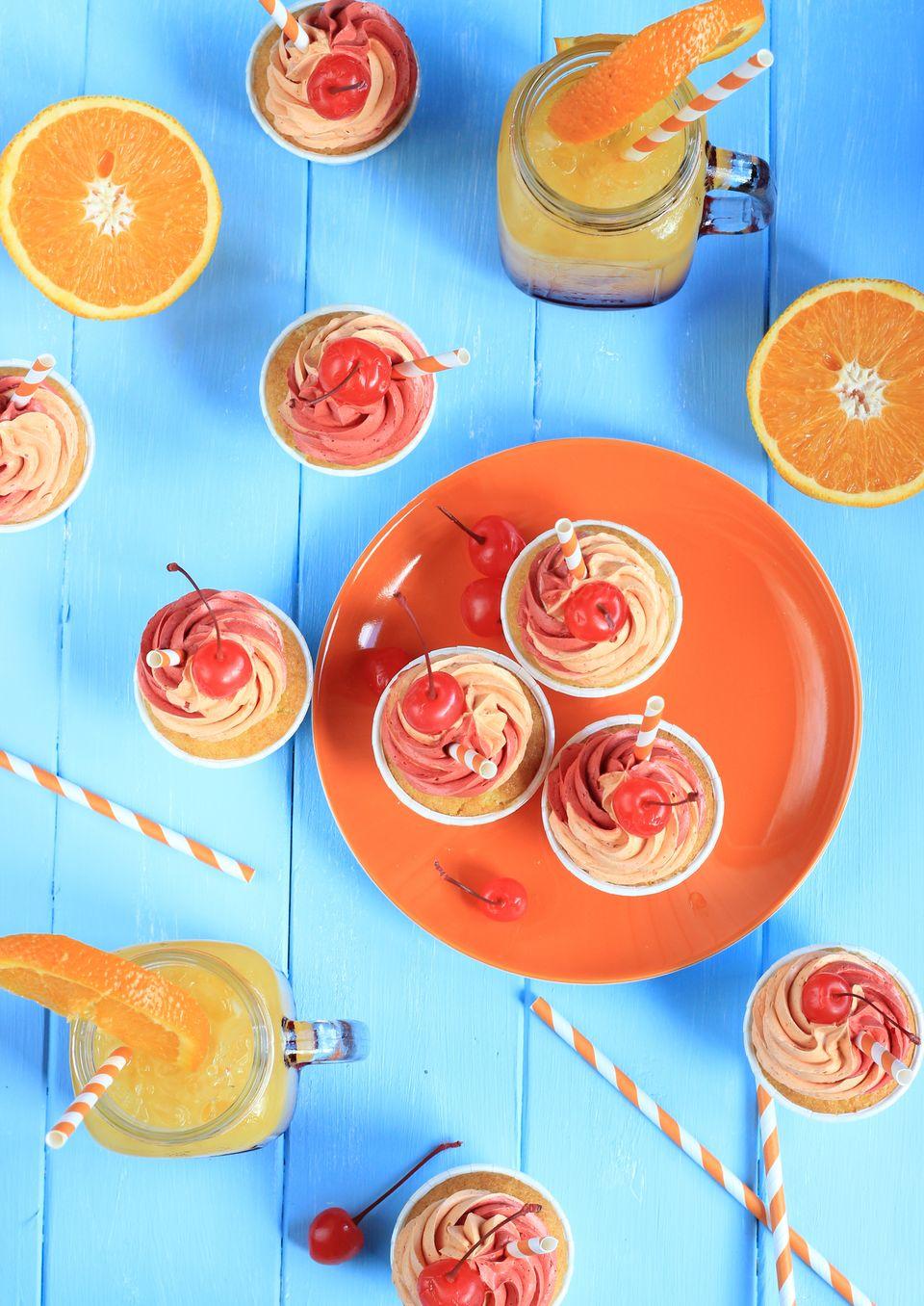 Tequila Sunrise Cupcake - inspiriert vom Sommer!