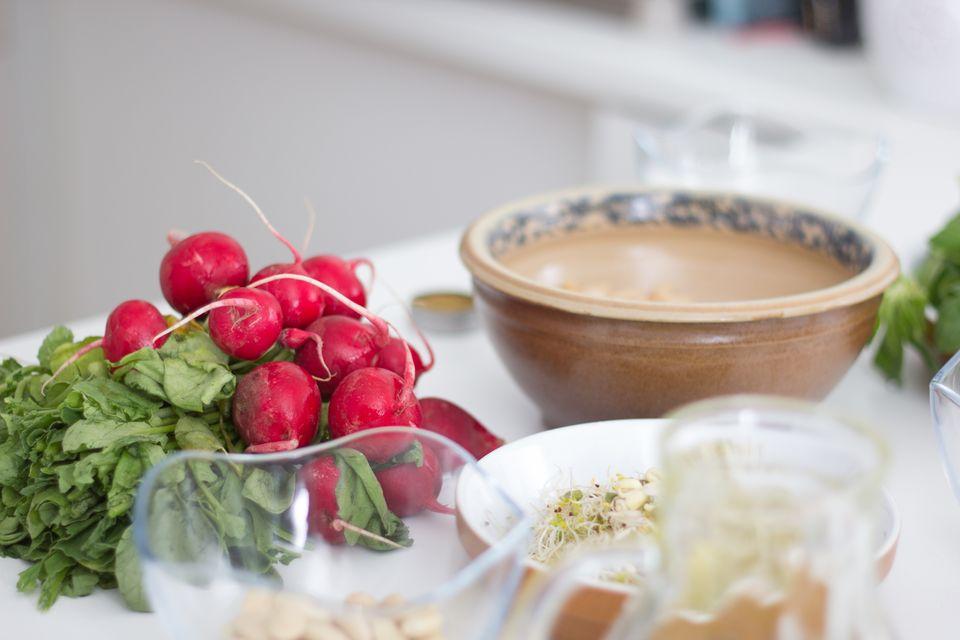Zutaten für das schnelle, gesunde Mittagessen