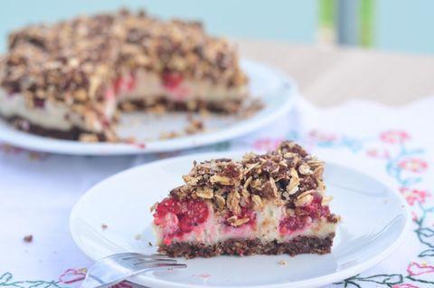 vollwert-blog.de: Himbeer-Schoko-Streusel-Kuchen