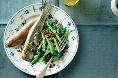 Matjes mit grünen Bohnen und Speck