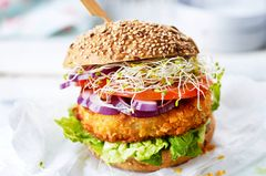 Kohlrabi-Schnitzel-Burger