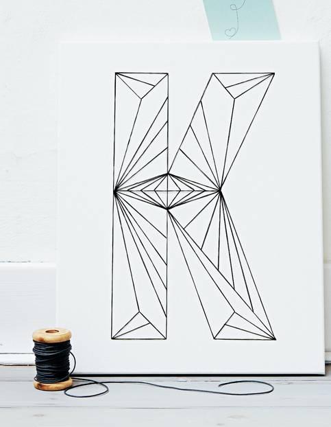 buchstaben deko zeichen setzen von a bis z. Black Bedroom Furniture Sets. Home Design Ideas