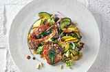 Zucchinisalat mit Saltimbocca