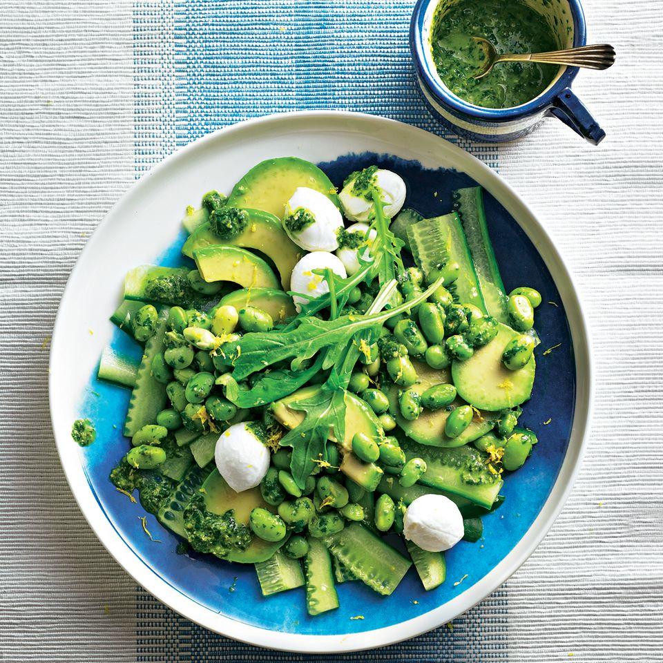 Avocado-Bohnen-Salat mit Salsa verde